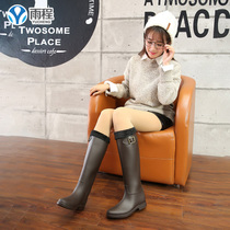 British rain boots tall spring and summer fashion rain boots ladies long tube water shoes rubber shoes adult rain boots Martin water boots shoes