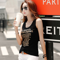 2019 summer cotton black camisole small vest ladies short paragraph wear Korean version of the sleeveless tight ride