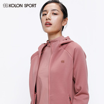KOLONSPORT can long women's 2020 new spring coat soft shell outdoor sports hooded jacket spring