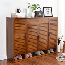 Shoe cabinet solid wood simple multi-layer simple modern living room entrance multi-function storage hall cabinet storage nanzhu shoe rack