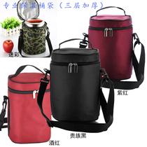See the beauty of fine and thick insulation barrel sleeve seal waterproof inner sleeve round portable lunch box pot bag with rice bag