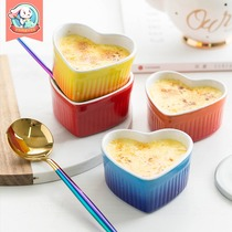 Ceramic souffle Egg Tart baking bowl cake mold oven baking tools creative steam egg bowl microwave home small