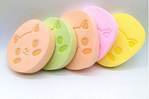 Children wash face belt bao P &  g face natural baby wash face sponge flutter thickening increase facial cleanser to pounce 2 slices