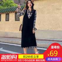 Early autumn models wild large size womens spring 2019 new tide autumn and winter dress skirt autumn style two-piece suit