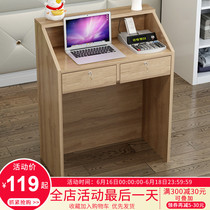 Simple modern barber shop front desk clothing store counter supermarket checkout counter bar table small beauty salon reception desk