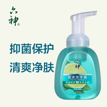 Liushen foam hand sanitizer 320ml leaves lime antibacterial protection refreshing press childrens family home deep