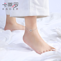 Katiu sterling silver anklet female antique niche design Korean version of the simple sexy fashion 520 gift ankle chain