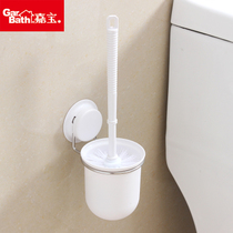 Jiabao stainless steel toilet brush set bathroom no dead soft wash toilet brush creative free punch toilet brush