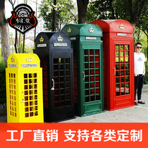 Factory Outlet special London phone booth decoration net red bar decoration large retro photography props model