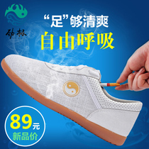 Tai chi shoes cloth shoes tendon bottom canvas shoes taijiquan practice shoes men and women summer breathable tai chi sports shoes martial arts