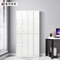 Vertical eight locker office school Iron 8 door staff Cabinet bathroom wardrobe storage cabinet storage cabinet