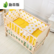 Baby bed solid wood baby bed multi-function bb bed newborn child side bed European folding splicing bed cradle