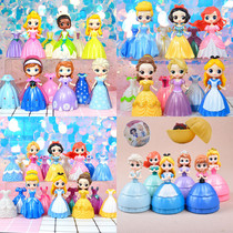 Frozen Elsa Sophia Alice movable doll Cinderella dress up Snow White Surprise toys