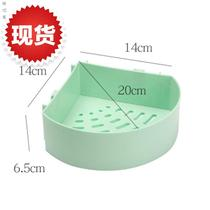 Set k rack hole-free triangle kitchen bathroom small household items wall hanging shelf bathroom to collect corner toilet.
