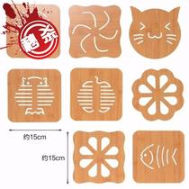 Placemat heat insulation pad bamboo table pad plate mat Home anti-hot pad pot pad sand V pot pad Bowl pad coaster wood