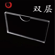 A4-kasque acrylic insert paper box organic photo display card single double-layer flyer transparent tag slot.