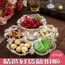 European fashion fruit plate double dried fruit plate creative home fruit plate luxury creative living room coffee table table fruit bowl