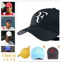 Federer tennis hat visor RF sports cap sun protection cap Hybrid