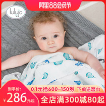 Canadian lulujo newborn baby bamboo cotton towel bath towel package is wrapped in autumn and winter gift box 3 pack.