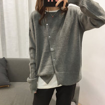 2019 spring and autumn new outer sweater womens long-sleeved Korean version of the loose Wild was thin casual thin cardigan jacket
