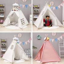 Small tent childrens book corner in kindergarten reading area arranges creative photography of game house decoration in family play area