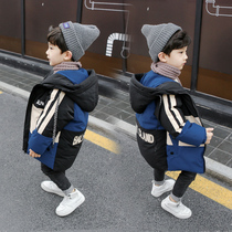 Boys winter coat foreign style Korean version 1 2-3 years old baby autumn and winter padded coat 4 children handsome jacket 5