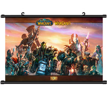 World of Warcraft posters hang around the game wow Lich King Shiva Andoinwa King Gianna Illidan.