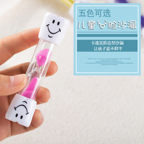 Childrens tooth brush hourglass timer cute cartoon mini trumpet three 3 minutes time drop creative gift