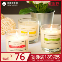 Smell library classic cool white open Atlantic scented candles bedroom interior home fragrance home fragrance