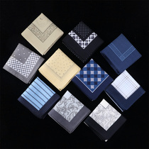 Ze slightly Xuan Yu handkerchief men cotton sweat handkerchief male gift square wipe sweat Environmental Protection simple wedding handkerchief
