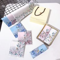 Ladies handkerchief cotton handkerchief cherry blossom square towel Cotton Girls ancient floral handkerchief wedding hand gift