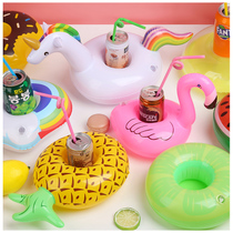 New inflatable unicorn cup holder Flamingo coaster four-hole cup holder inflatable coaster water supplies thickening