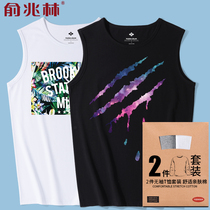 Vest male loose tide hip-hop large size personality Tide brand fat waist summer mens Sports Fitness sleeveless T-shirt