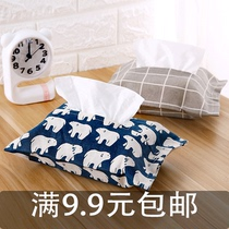 Living room cloth tissue paper card sets through cute creative car car pumping paper box sets of household car tissue box