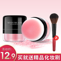 Blush Womens authentic nude makeup ins net red with the same paragraph natural brightening skin tone beginner sunburn cream plate Rouge powder brush