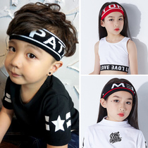 New Japan and South Korea Children hip-hop hip-hop boys and girls childrens wool knit hair band personality childrens sports wrist