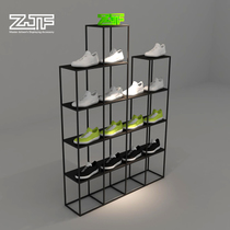 All Carpenter square ZJF shoes shop decorative shelves display cabinets display wall wrought iron multi-layer shelf new D3