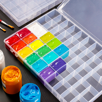 Gouache jelly acrylic painting paint painting box storage box 24 grid 48 color box transparent large capacity 36 boxes