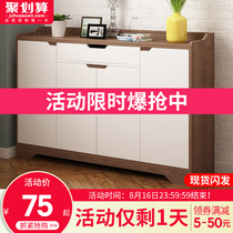 Shoe cabinet simple modern hall Cabinet home entrance cabinet simple economy storage cabinet imitation wood large capacity shoe rack