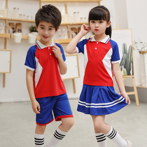 Kindergarten primary school uniforms spring and summer costumes childrens summer new sports suit custom wholesale