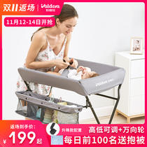 Diaper table baby care table baby changing diapers massage bath table newborn touch multi-function folding