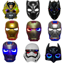 Halloween toy Captain America Transformers Hulk Thor deathblast Spider-Man Iron Man Glow Mask