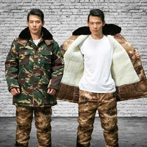 Desert camouflage coat male Winter thickening cold storage cold clothes labor insurance cotton padded overalls suit thickening