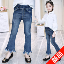 Girls bell-bottoms autumn jeans 2019 new spring and autumn fashion micro-LA in the children's children's long pants