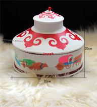 Boutique leather features Mongolian yurt jewelry box Inner Mongolia crafts jewelry storage box ethnic crafts