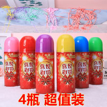 Hand spray spray spray snow ribbon fireworks concierge flower wedding birthday party props layout wedding supplies Daquan