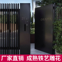 European-style iron gate luxury villa portal iron gate courtyard door home door security door single door can be customized