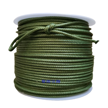 Diving army green orange 2 mm fish gun strong horse woven hydrant fish rope search and rescue ejaculation wrap core sea fishing rope.