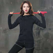 Every day special autumn and winter outdoor sports hoodie fitness clothes running yoga suit zipper jacket dance dress girl.