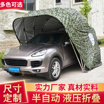 Semi-automatic folding canopy Factory Direct car parking shed mobile garage car awning tent dust
